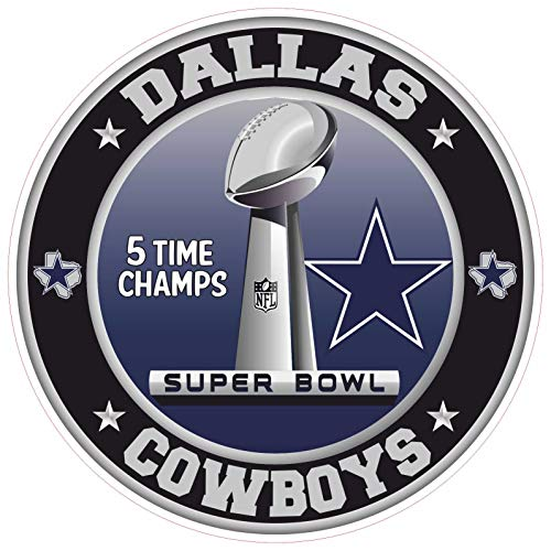 Dallas Cowboys Super Bowl Championship Sticker NFL Bootbal Truck Vinyl 6 Sizes Wall Art Logo Car Bumper Dallas Cowboy Wall Decal (3