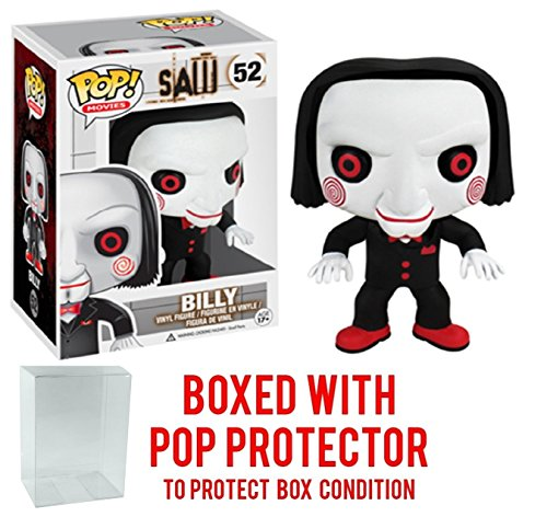 Funko Pop! Movies: Saw - Billy the Puppet Vinyl Figure (Bundled with Pop BOX PROTECTOR CASE)