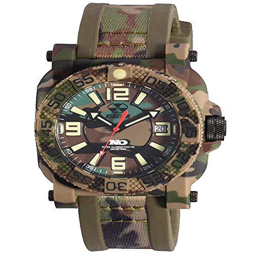 REACTOR Men's 'Gryphon' Swiss Quartz Stainless Steel and Resin Sport Watch, Color:Beige (Model: 73824)