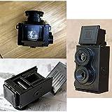 Mingruie Fashion Film Twin Lens Reflex Film Camera for Lomo DIY Kit Black