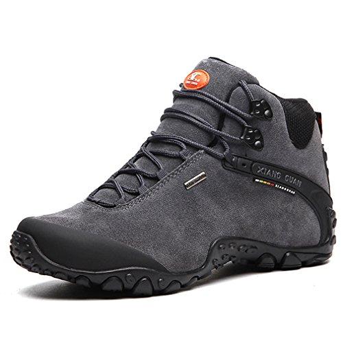 Guan Xiang Randonnée Trekking Gris Montantes Outdoor Sport Chaussures de Homme Imperméable Bottes Respirant Suède drqrp7P