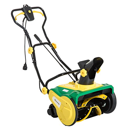 Outsunny 20'' Electric 13 Amp Corded Snow Blower with Wheels by Outsunny