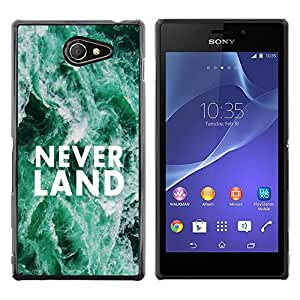 [Neutron-Star] Snap-on Series Teléfono Carcasa Funda Case Caso para Sony Xperia M2 [Neverland sueños Cita Hope Fairytale]