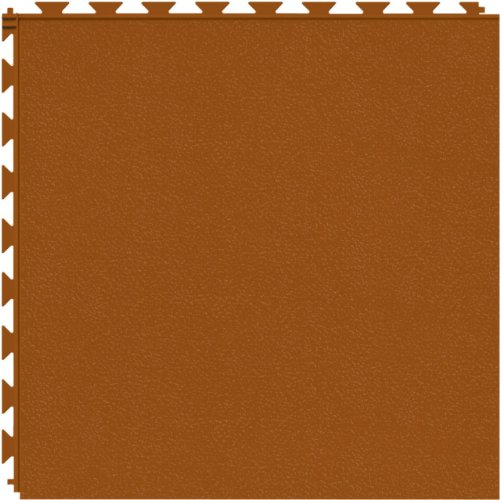 (Tuff-Seal Prime Patented Hidden Interlock, Commercial Quality Vinyl Floor Tile (No Adhesive Necessary), Surface: Smooth, Color: Terracotta)