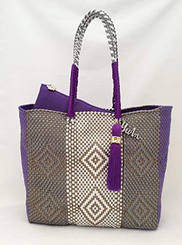 estilo de moda comprar popular varios estilos Bolsa Artesanal Mexicana tejida a mano incluye funda para ...