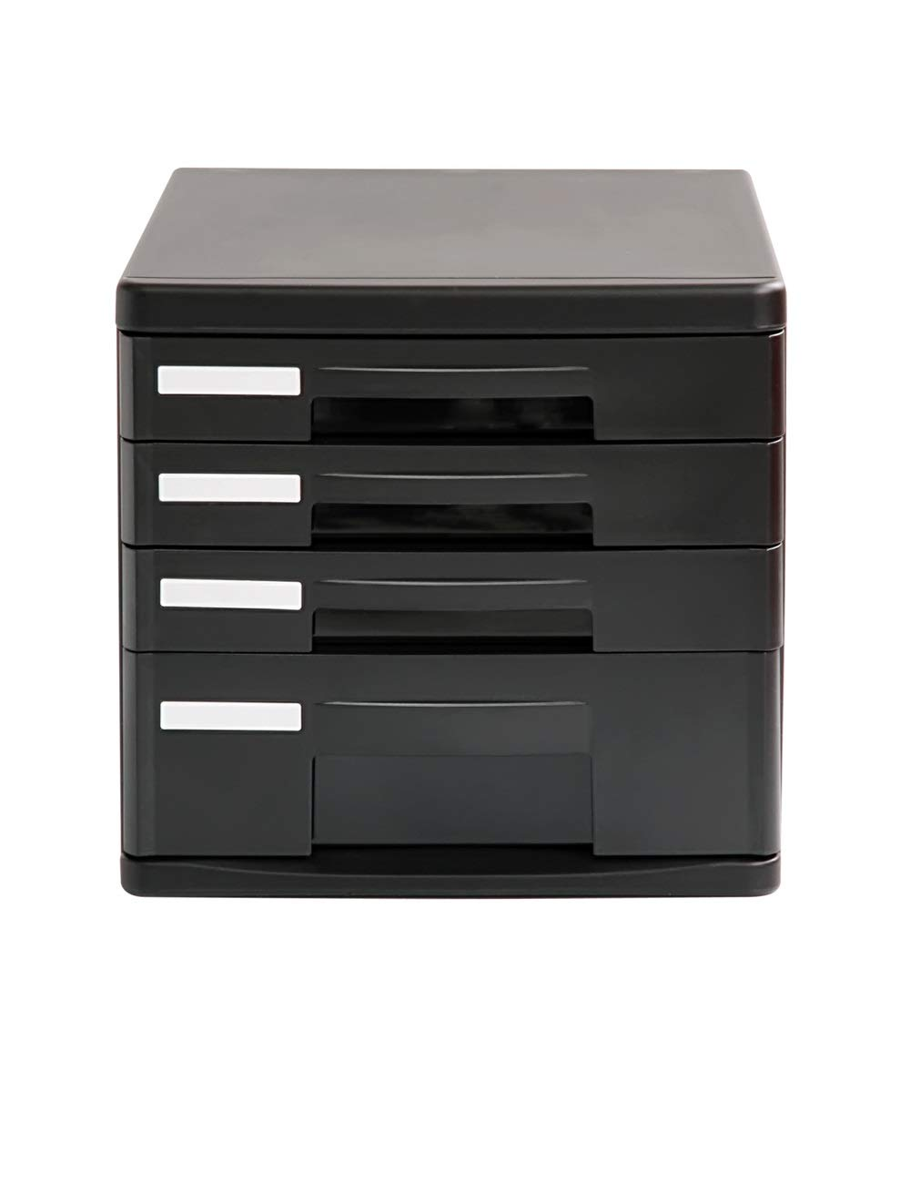File Cabinet Office Desktop A4 Plastic Data Cabinet Drawer Desktop Cabinet File Storage Cabinet Storage Box (Design: 4 Drawers) Filing cabinets