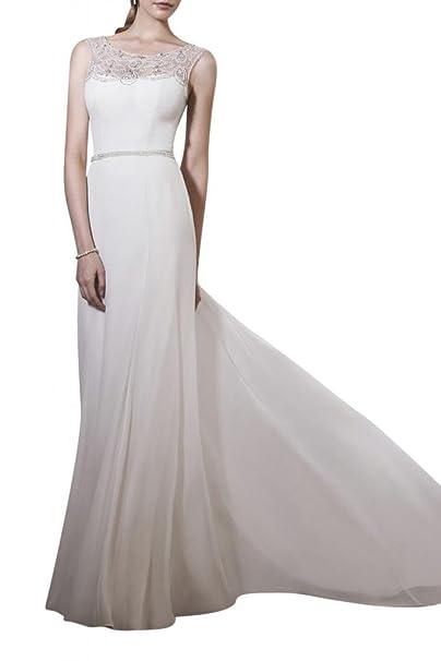 Toskana novia estilo completo redondo Cuello Vestidos de novia largo gasa tuell Princesa Boda Vestidos beige