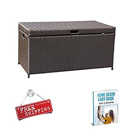 Amazon Com Ats Deck Storage Box Waterproof Container Patio Garden