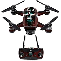Skin for DJI Spark Mini Drone Combo - Wicked Skull| MightySkins Protective, Durable, and Unique Vinyl Decal wrap cover | Easy To Apply, Remove, and Change Styles | Made in the USA