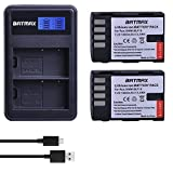 Batmax 2 Packs DMW-BLF19, DMW-BLF19e, DMW-BLF19PP Rechargeable Batteries + LCD Dual USB Charger