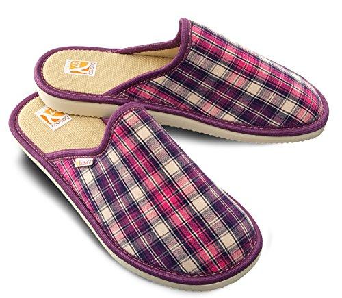 Bosaco zapatillas de lujo para las mujeres Checkered Violeta 2