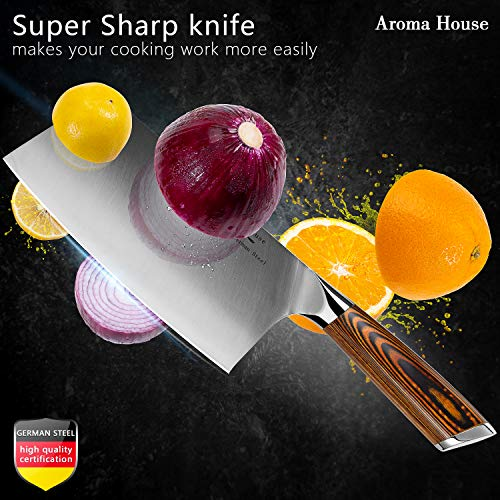 Aroma House Chinese Chef S Knife 7 Inch Vegetable And Meat