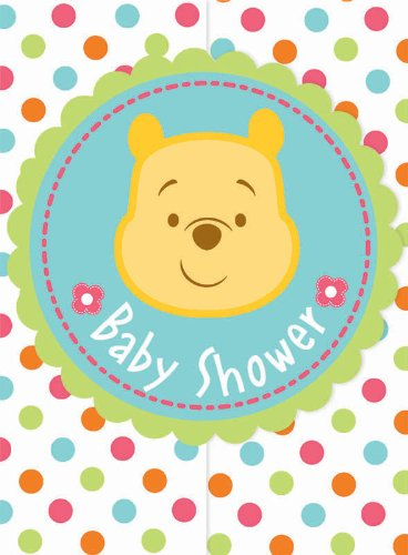 Winnie the Pooh Baby Shower Invitations (8) Invites Cards -