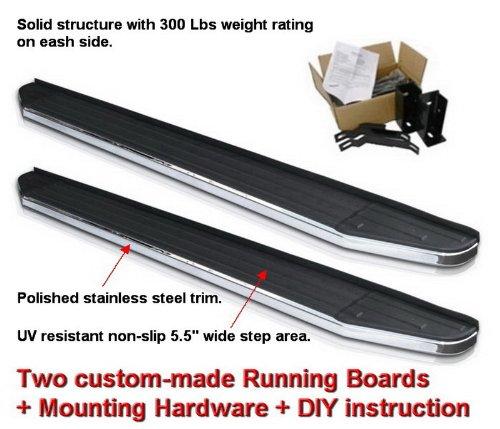 2pc with Mounting Bracket Kit MaxMate Premium Custom Fit 09-15 Honda Pilot Side Step Running Boards Nerf Bars