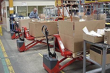 Ergonomic High Lift Pallet Jack 21.25 x 47-3,300 lbs Interthor Electric Thork Lift