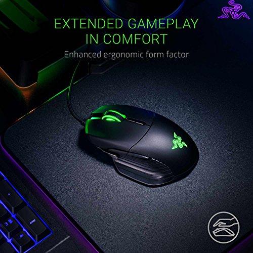 Razer Basilisk - Chroma Enabled RGB FPS Gaming Mouse - World's Most Precise Sensor - Comfortable Grip w/ DPI Clutch & Customizable Scroll Wheel Resistance