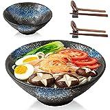 NOSACEN Ramen Bowl,2sets(8 pieces) Ceramic Large