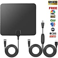 Smart TV Antenna, 50 Mile Satellite 4K Digital Adapter Indoor, Detachable Amplifier Signal Booster with 10ft High Coaxial Cable.