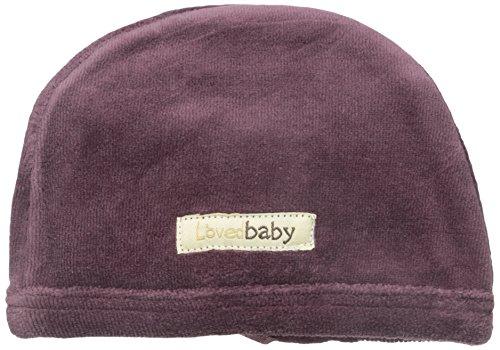 L'ovedbaby Unisex-Baby Newborn Organic Cotton Velour Cute Cap, Eggplant, 0-3 Months -