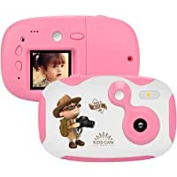 weton Kids Digital Camera, 1.44 inch Digital Video Camera Creative DIY Camera for Kids with Soft Silicone Protective Shell 1080P HD Sport Learn Mini Camera Camcorder for Boys Girls Gifts (Pink)
