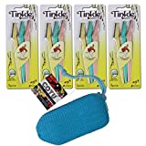 Tinkle Eyebrow Razor for Beautiful Eyebrows (12pcs) + 1 pcs of COTU ® Exfoliating Mesh Soap Saver Sleeve Pouch