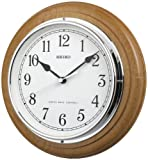 Deluxe Wooden Radio Controlled Seiko Wall Clock
