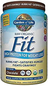 Garden of Life Organic Meal Replacement - Raw Organic Fit Vegan Nutritional Shake for Weight Loss, Chocolate, 32.5oz (2lbs/922g) Powder