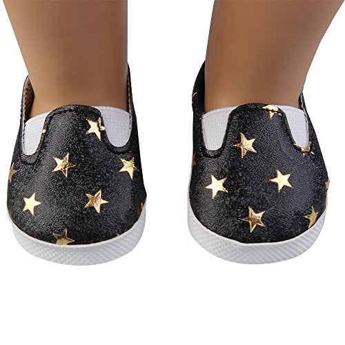 Doll Shoes, Yamally_9R 18 inch Doll Shoes Star Princess Shoes Made for 18