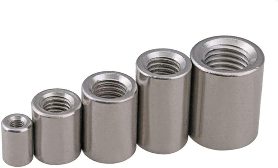 Nuts Size : M10x16x25 2PCS Screws 2pcs A Lot M6 M8 M10 M12 M14 Stainless Steel Long Round Nut Screw Rod Nut Nut Column Nails