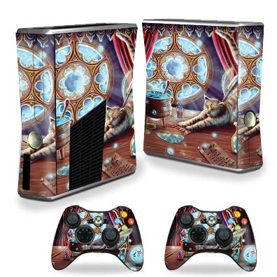 MightySkins Skin Compatible with Xbox 360 S Console - Cauldron Cat   Protective, Durable, and Unique Vinyl Decal wrap Cover   Easy to Apply, Remove, and Change Styles   Made in The USA ()