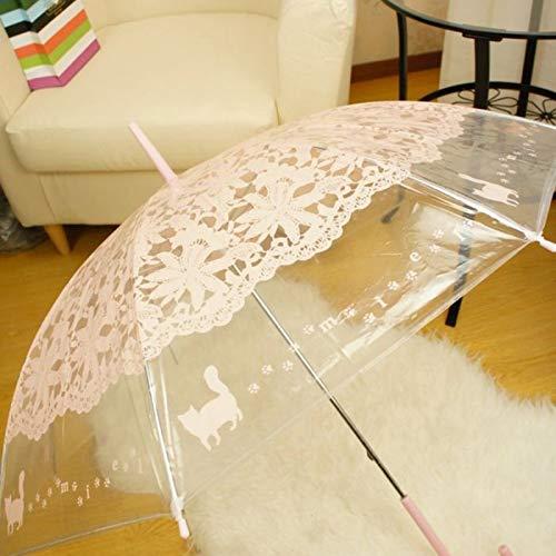 Ynebwcie Paraguas de la Mujer Paraguas de Sol Gato Imitación ...