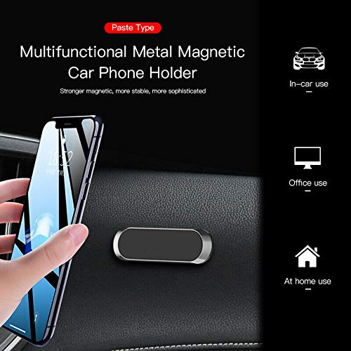 Ohyoulive Mini Strip Shape Magnetic Car Phone Holder Stand Magnet Mount for Dashboard