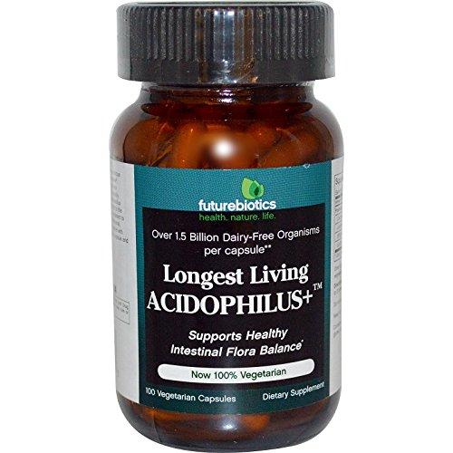 100 Caps Longest Living - FutureBiotics, Longest Living Acidophilus+, 100 Veggie Caps - 2pc