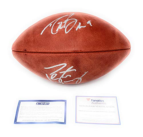 (Peyton Manning Drew Brees Saints Broncos Colts DUAL Signed Autograph Authentic NFL Duke Football Steiner Sports & Fanatics Authentic Certified)
