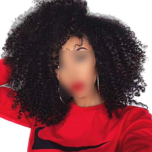 360 Lace Frontal Wig Kinky CurlyRemy Hair Thick End Full Wig,10inches
