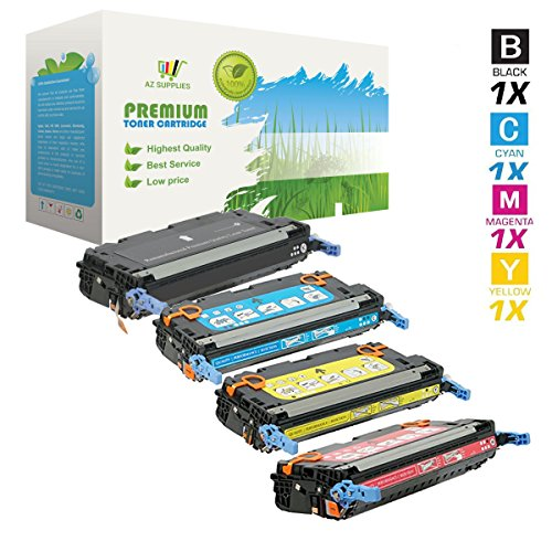 AZ Supplies Re-Manufactured Toner Cartridges Replacement for HP 3800, 503A, Q6470A, Q7581A, Q7582A, Q7583A for use in HP Color LaserJet 3800, 3800N, 3800DN Series Printers (B, C, Y, M, 4-Pack). (3800 Series Color Laser Printers)