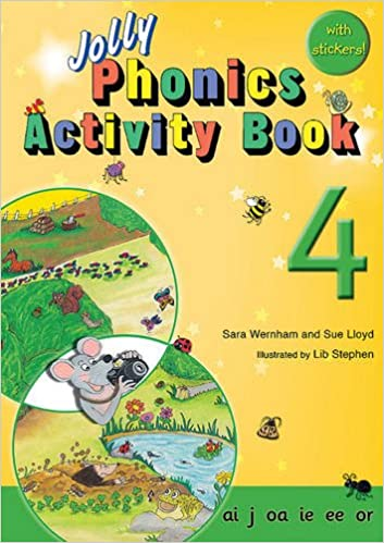 Jolly Phonics Activity Book 4: in Precursive Letters (BE)