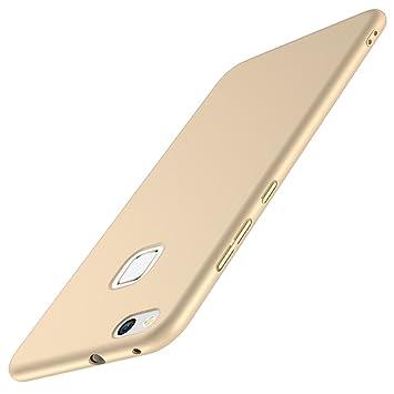 Funda Huawei P10 Lite, Joyguard Rigido PC Carcasa Huawei P10 Lite [Delgado] [Ligero] [Anti-Rasguños] Funda Huawei P10 Lite Dorado - 5.2 Pulgada - Oro