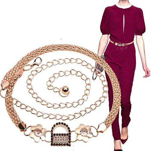 Women's Lady Fashion Metal Chain Style Belt Body Chain (B)