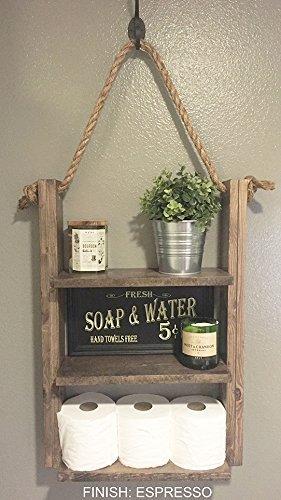 Amazon.com: Bathroom Shelf - Hanging Rope Shelf - Medicine Cabinet ...