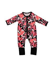 Baby Girl Clothes Floral Print Pajamas Sleeper Jumpsuit One-pieces Coveralls