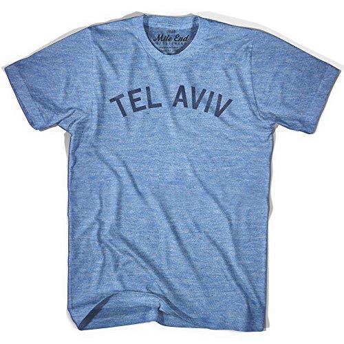 - Tel Aviv City Vintage T-shirt, Athletic Blue, Small