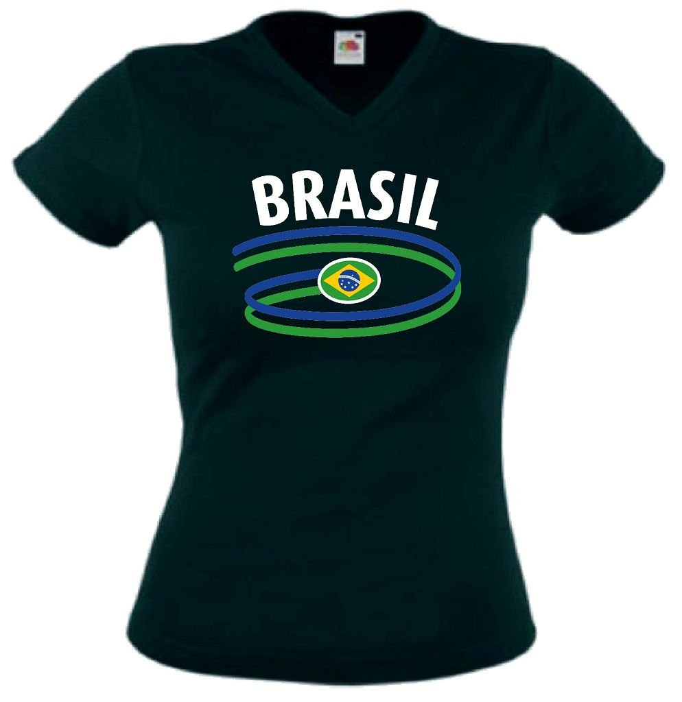 Fruit of the Loom Brasilien Damen T-Shirt Dynamic Trikot von XS-XXL