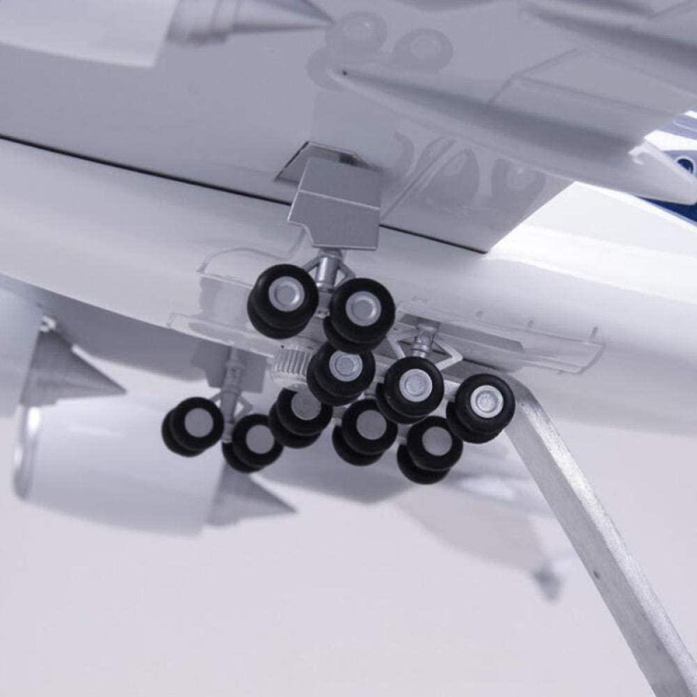 QLRL 45.5Cm 1//160 Scale Airplane Airbus A380 Malaysia Airline Model W Light and Wheel Diecast Plastic Resin Plane For Collection