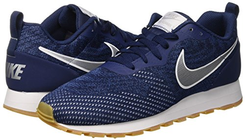 Navy Basses 001 Runner Blue gym Silver midnight Sneakers 2 Md Mesh Nike metallic Eng Multicolore Homme vqxHwACvY
