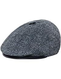 Men's Winter Peaked Cap Outdoor Cap with Ear Flap for the Elderly