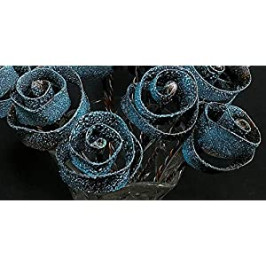 "Set of 5 Stardust Forever Copper Roses #1599"" I Love You"" Steampunk - Wedding Prom Graduation 7th Anniversary Regalo de Aniversario Hanukkah Kwanzaa Valentine's Mother's Day Christmas Gift ! 115"