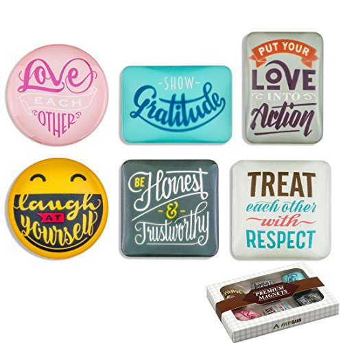 Cute Refrigerator Magnets (Avery Barn-Refrigerator Magnet Set - Family Rules Theme, 6pcs pack)
