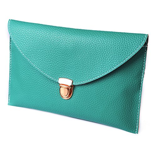 HDE Fashion Leather Envelope Shoulder