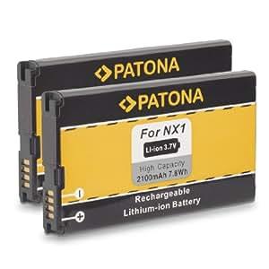 2x Batería NX1 NX-1 para BlackBerry Q10 y mucho más… [ Li-ion; 2100mAh; 3.7V ]